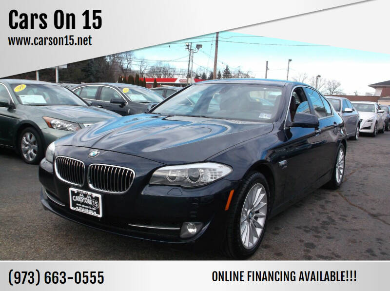 2012 BMW 5 Series for sale at Cars On 15 in Lake Hopatcong NJ