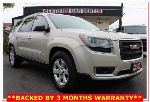 2013 GMC Acadia for sale at CERTIFIED CAR CENTER in Fairfax VA