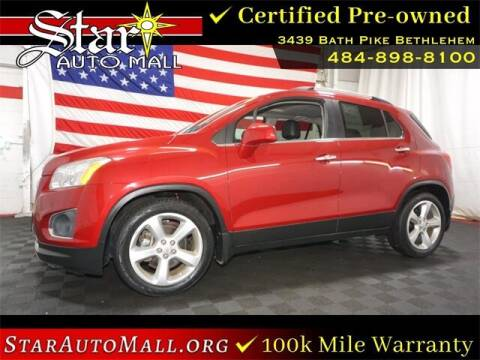 2015 Chevrolet Trax for sale at STAR AUTO MALL 512 in Bethlehem PA