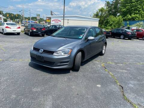 2016 Volkswagen Golf for sale at M & J Auto Sales in Attleboro MA