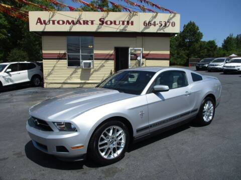 2012 Ford Mustang for sale at Automart South in Alabaster AL