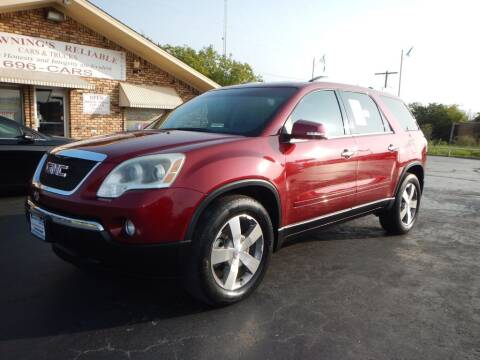 2011 GMC Acadia for sale at Browning's Reliable Cars & Trucks in Wichita Falls TX