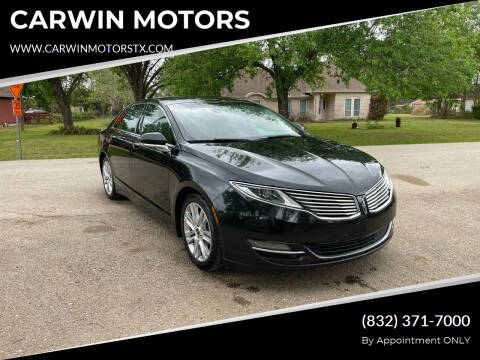 2014 Lincoln MKZ Hybrid for sale at CARWIN MOTORS in Katy TX