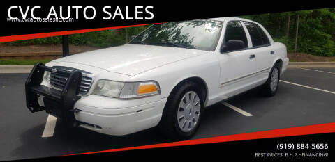 2010 Ford Crown Victoria for sale at CVC AUTO SALES in Durham NC