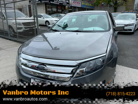 2010 Ford Fusion for sale at Vanbro Motors Inc in Staten Island NY
