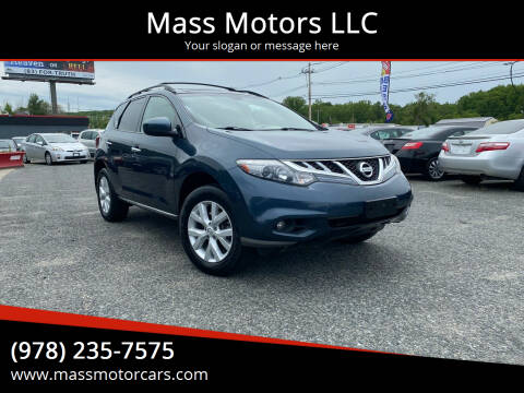 2011 Nissan Murano for sale at Mass Motors LLC in Worcester MA