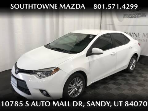 2015 Toyota Corolla for sale at Southtowne Mazda of Sandy in Sandy UT