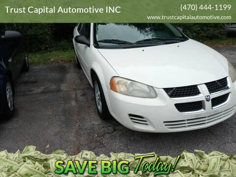2006 Dodge Stratus for sale at Trust Capital Automotive Inc. in Covington GA