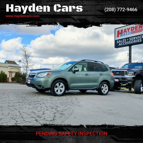 2015 Subaru Forester for sale at Hayden Cars in Coeur D Alene ID