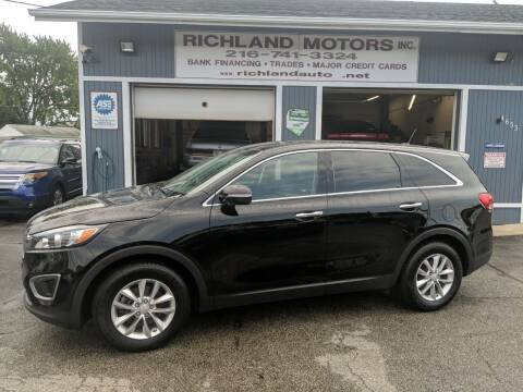 2016 Kia Sorento for sale at Richland Motors in Cleveland OH