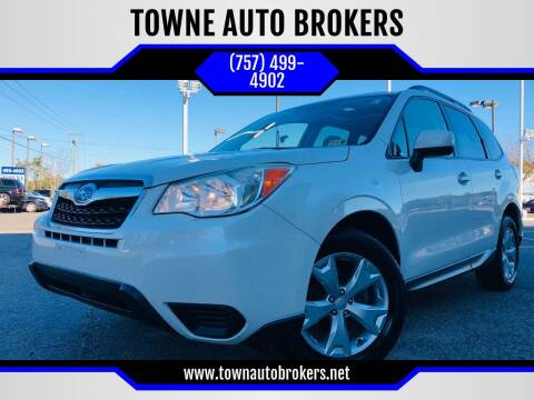 2015 Subaru Forester for sale at TOWNE AUTO BROKERS in Virginia Beach VA
