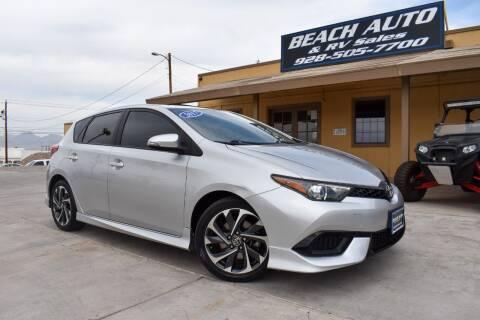 2017 Toyota Corolla iM for sale at Beach Auto and RV Sales in Lake Havasu City AZ