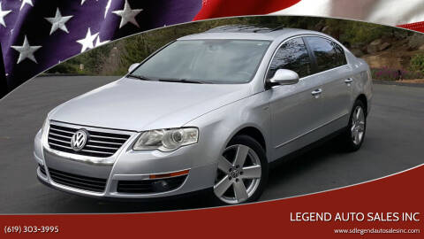 2007 Volkswagen Passat for sale at Legend Auto Sales Inc in Lemon Grove CA
