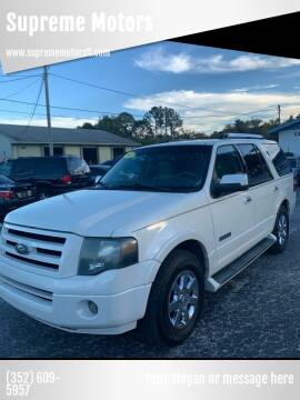 2007 Ford Expedition for sale at Supreme Motors in Tavares FL