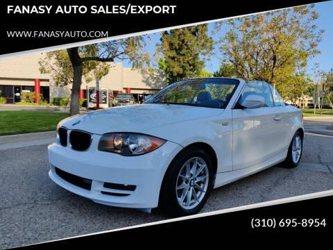 2011 BMW 1 Series for sale at FANASY AUTO SALES/EXPORT in Yorba Linda CA