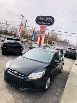 2013 Ford Focus for sale at i3Motors in Baltimore MD