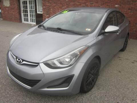 2016 Hyundai Elantra for sale at Tewksbury Used Cars in Tewksbury MA