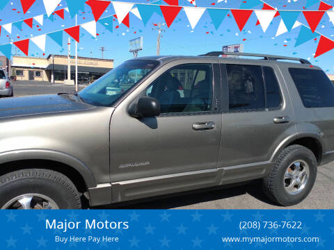 2002 Ford Explorer for sale at Major Motors in Twin Falls ID