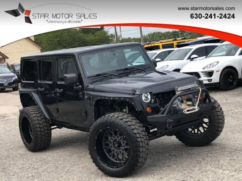 2013 Jeep Wrangler Unlimited for sale at Star Motor Sales in Downers Grove IL