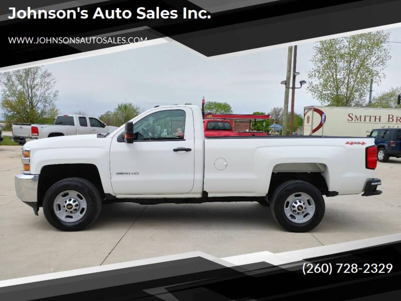 2018 Chevrolet Silverado 2500HD for sale at Johnson's Auto Sales Inc. in Decatur IN