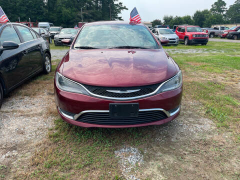 2015 Chrysler 200 for sale at A&J Auto Sales & Repairs in Sharpsburg NC