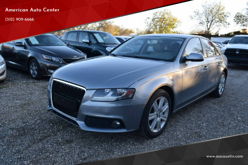 2011 Audi A4 for sale at American Auto Center in Austin TX