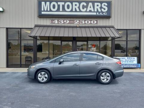 2013 Honda Civic for sale at MotorCars LLC in Wellford SC
