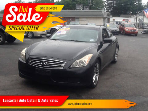 2008 Infiniti G37 for sale at Lancaster Auto Detail & Auto Sales in Lancaster PA