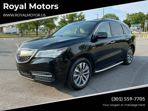 2014 Acura MDX for sale at Royal Motors in Hyattsville MD