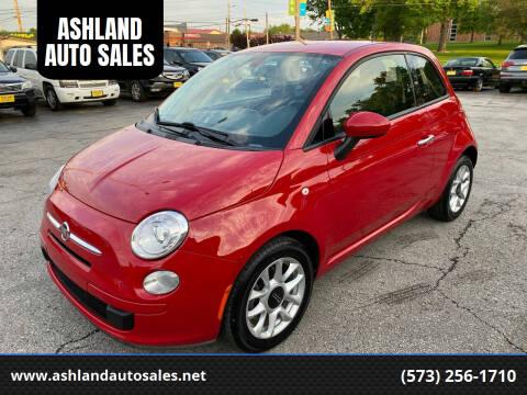 2016 FIAT 500 for sale at ASHLAND AUTO SALES in Columbia MO