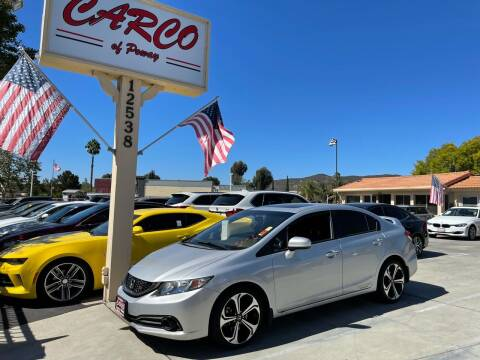 2015 Honda Civic for sale at CARCO SALES & FINANCE - CARCO OF POWAY in Poway CA