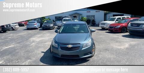 2012 Chevrolet Cruze for sale at Supreme Motors in Tavares FL