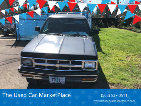 1993 Chevrolet S-10 Blazer for sale at The Used Car MarketPlace in Newberg OR