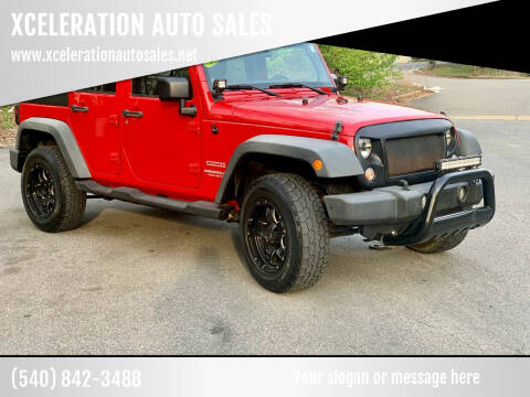 2011 Jeep Wrangler Unlimited for sale at XCELERATION AUTO SALES in Chester VA