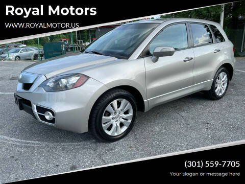 2010 Acura RDX for sale at Royal Motors in Hyattsville MD