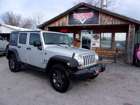 2008 Jeep Wrangler Unlimited for sale at LEE AUTO SALES in McAlester OK