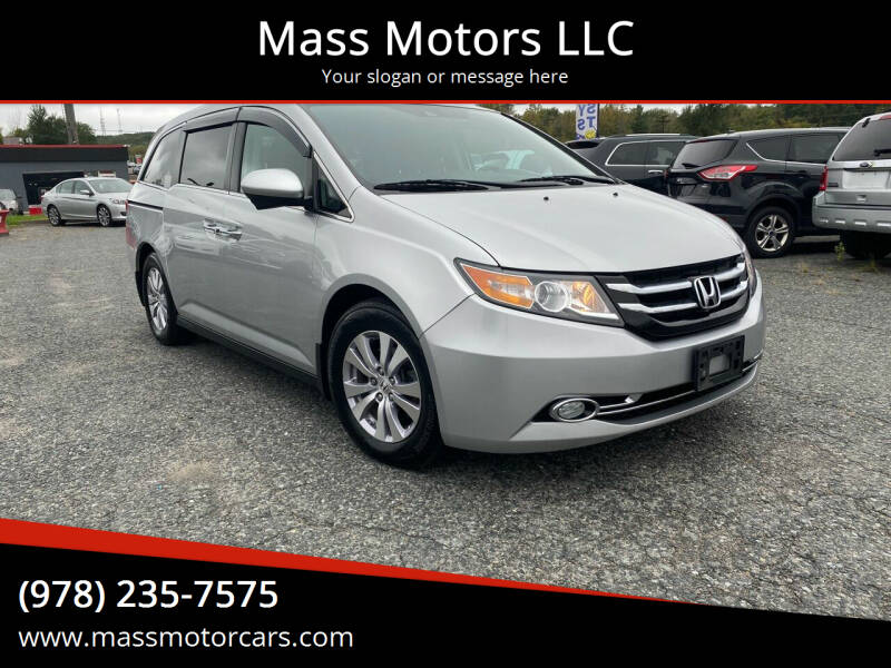 2015 Honda Odyssey for sale at Mass Motors LLC in Worcester MA