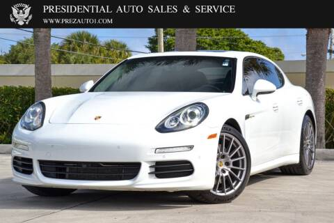 2015 Porsche Panamera for sale at Presidential Auto  Sales & Service in Delray Beach FL