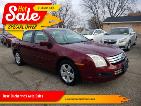 2007 Ford Fusion for sale at Dave Ducharme's Auto Sales in Lowell MA