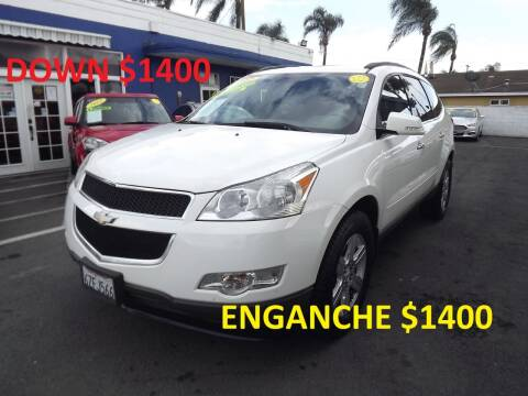 2012 Chevrolet Traverse for sale at PACIFICO AUTO SALES in Santa Ana CA