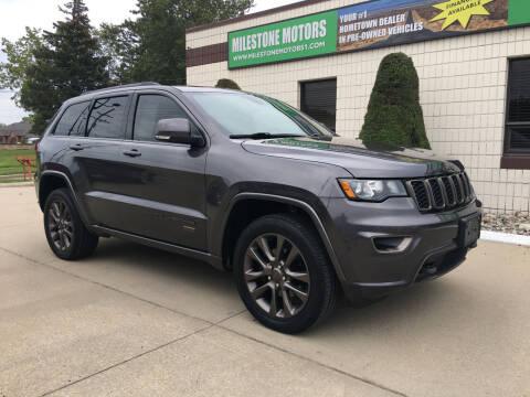 2017 Jeep Grand Cherokee for sale at MILESTONE MOTORS in Chesterfield MI