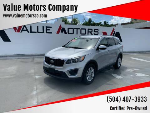 2016 Kia Sorento for sale at Value Motors Company in Marrero LA