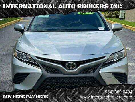 2018 Toyota Camry for sale at INTERNATIONAL AUTO BROKERS INC in Hollywood FL