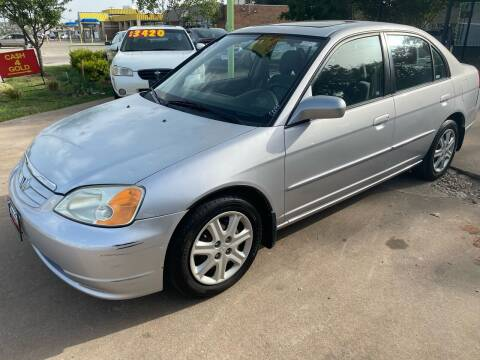 2003 Honda Civic for sale at Cash Car Outlet in Mckinney TX