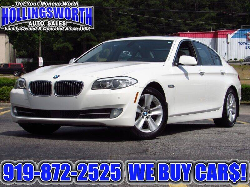 2012 BMW 5 Series for sale at Hollingsworth Auto Sales in Raleigh NC
