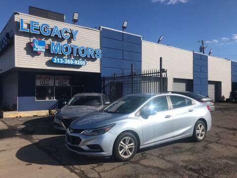 2017 Chevrolet Cruze for sale at Legacy Motors in Detroit MI