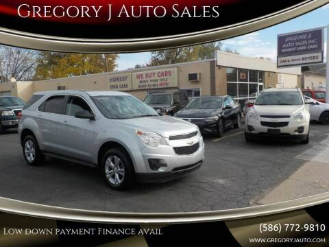 2013 Chevrolet Equinox for sale at Gregory J Auto Sales in Roseville MI