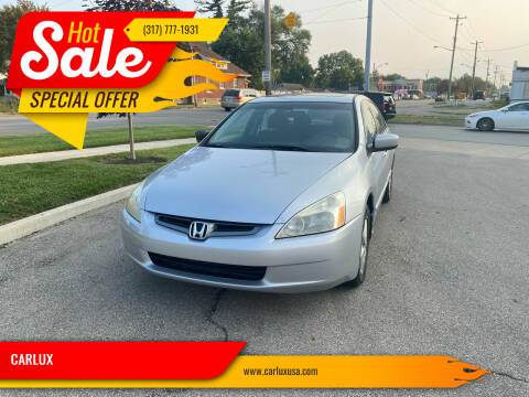 2005 Honda Accord for sale at CARLUX in Fortville IN