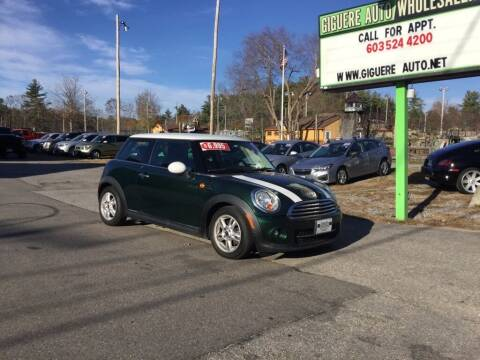 2013 MINI Hardtop for sale at Giguere Auto Wholesalers in Tilton NH