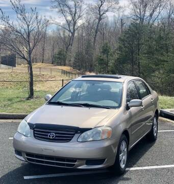 2004 Toyota Corolla for sale at ONE NATION AUTO SALE LLC in Fredericksburg VA